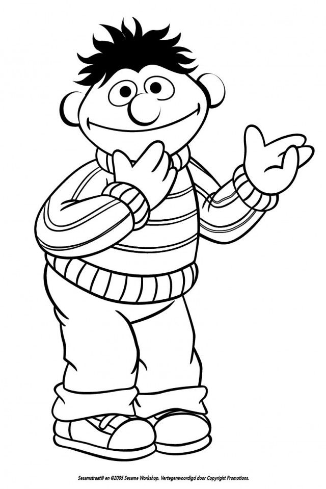 Sesame Street Bert And Ernie Coloring Pages Coloring Home