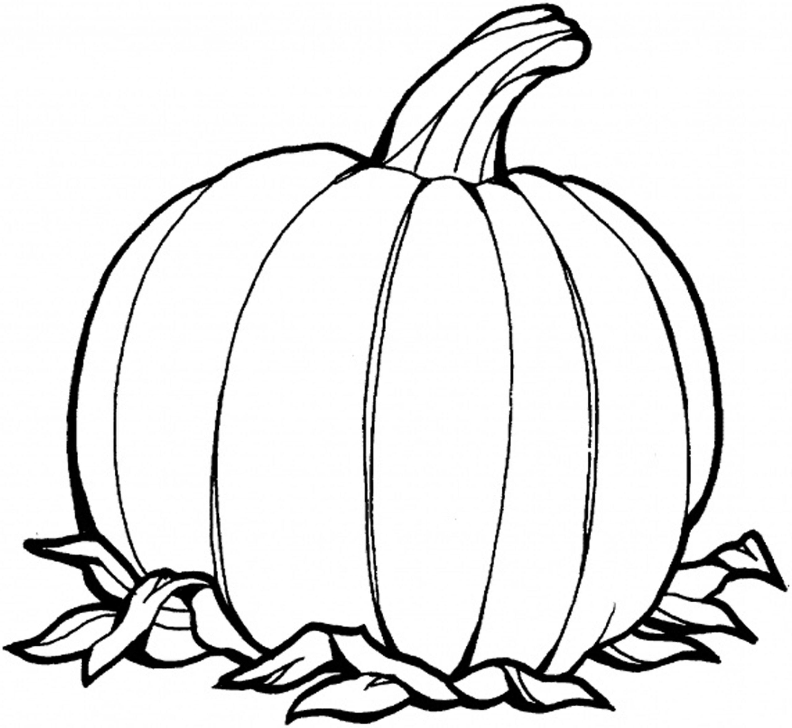 printable blank pumpkin coloring pages - photo#20