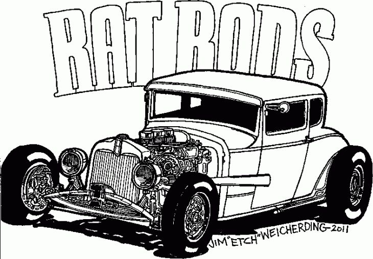 Hot Rod Coloring Pages Coloringnori Coloring Pages For Kids