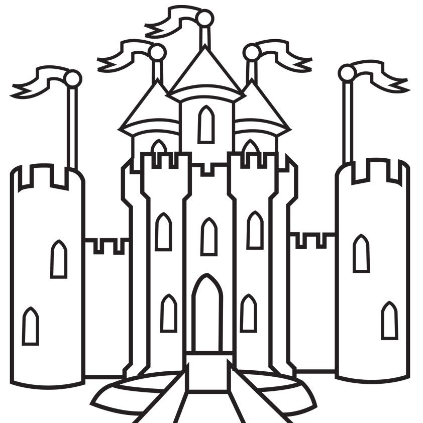 simple castle coloring pages - free coloring pages for kids castle coloring home