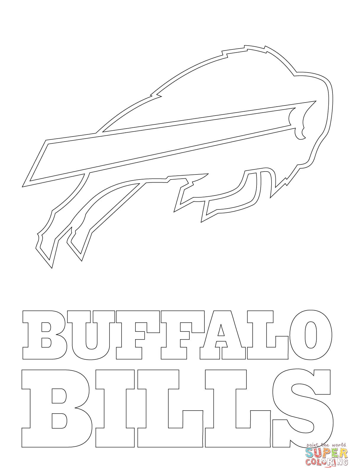 image about Buffalo Bills Schedule Printable named Buffalo Costs Symbol Coloring Web site Absolutely free Printable Coloring