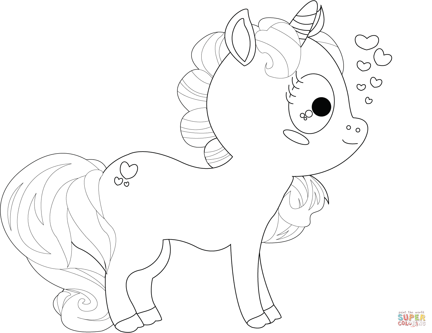 Baby Unicorns Coloring Pages - Coloring Home
