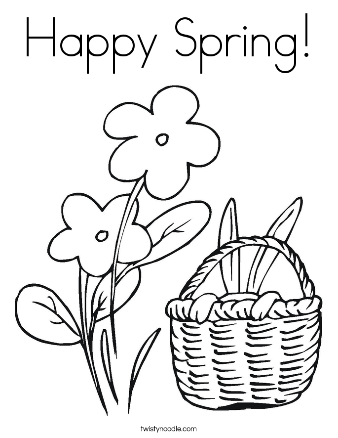 Spring Coloring Pages - Twisty Noodle