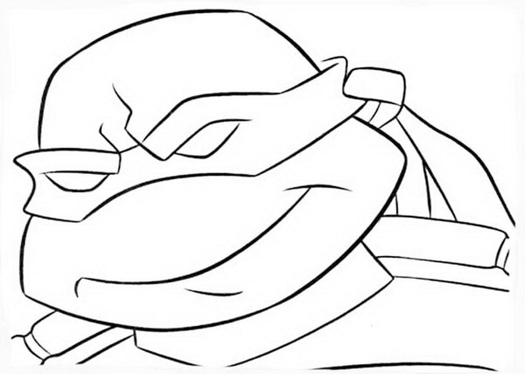 Teenage Mutant Ninja Turtles Mask Coloring Page Free