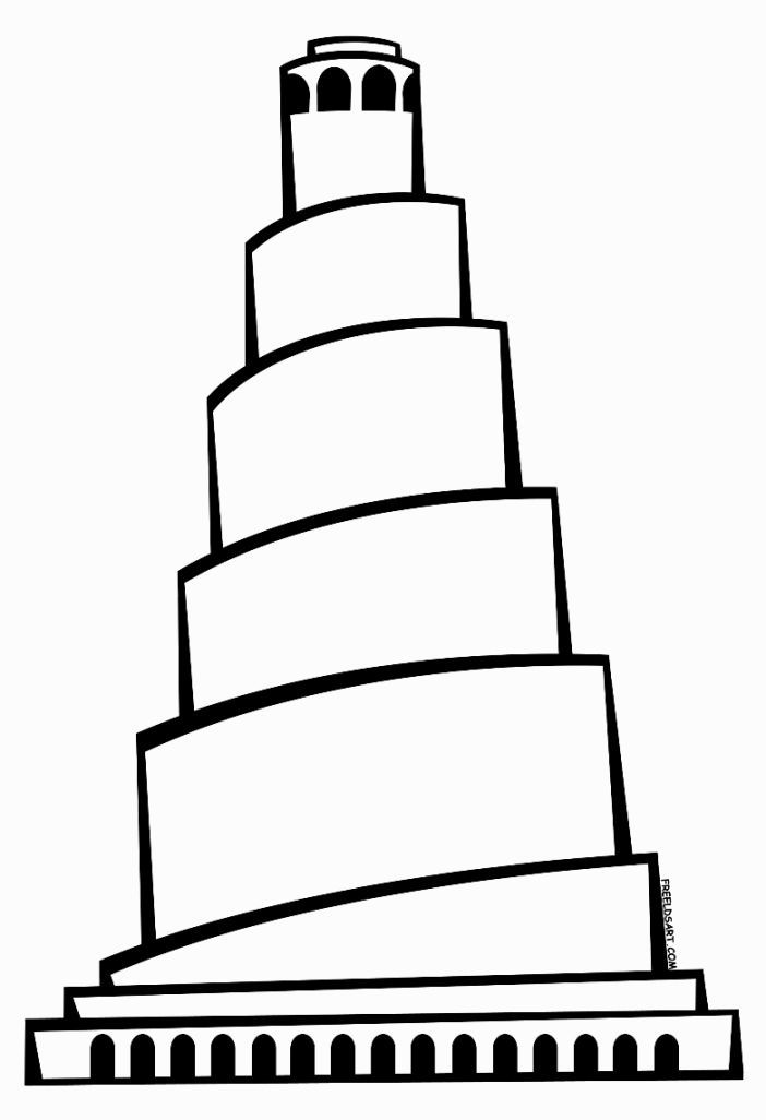 Tower Of Babel Coloring Sheet | Coloring Pages