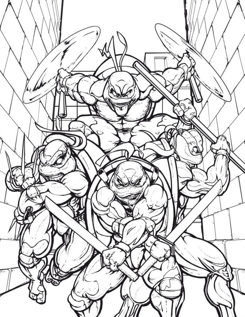 Easy Teenage Mutant Ninja Turtle Coloring Pages - Coloring ...