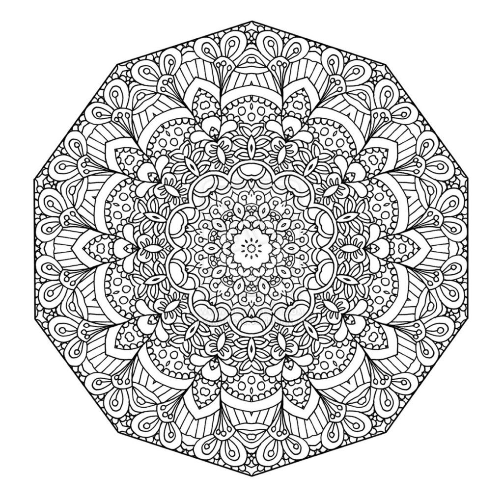 Difficult Mandala - Coloring Pages For Kids And For Adults ...