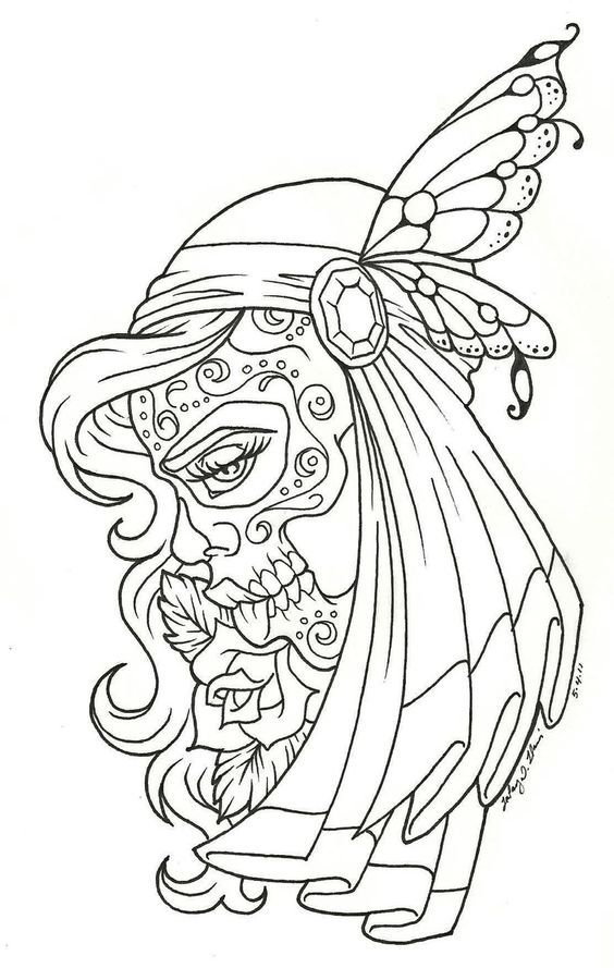 day of the dead coloring pages free dia de los muertos - Dia De Los Muertos Coloring Pages