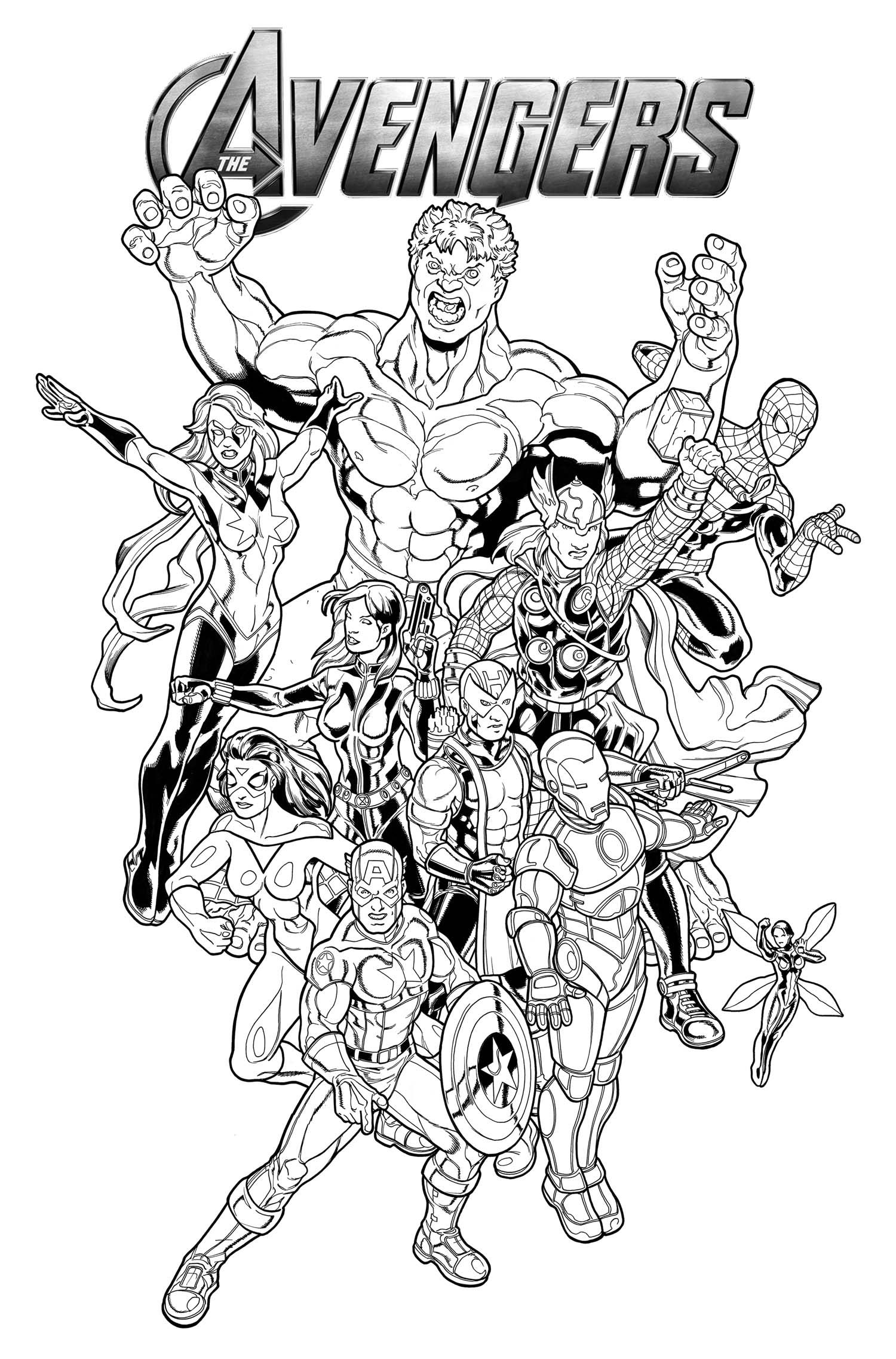 Avengers Coloring Pages And Book