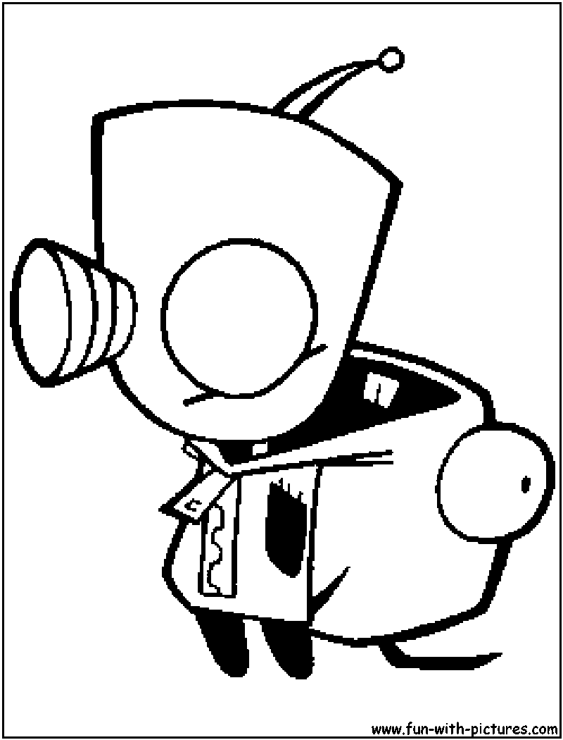 Gir Coloring Pages For Kids And For Adults Coloring Home Gir Coloring Pages
