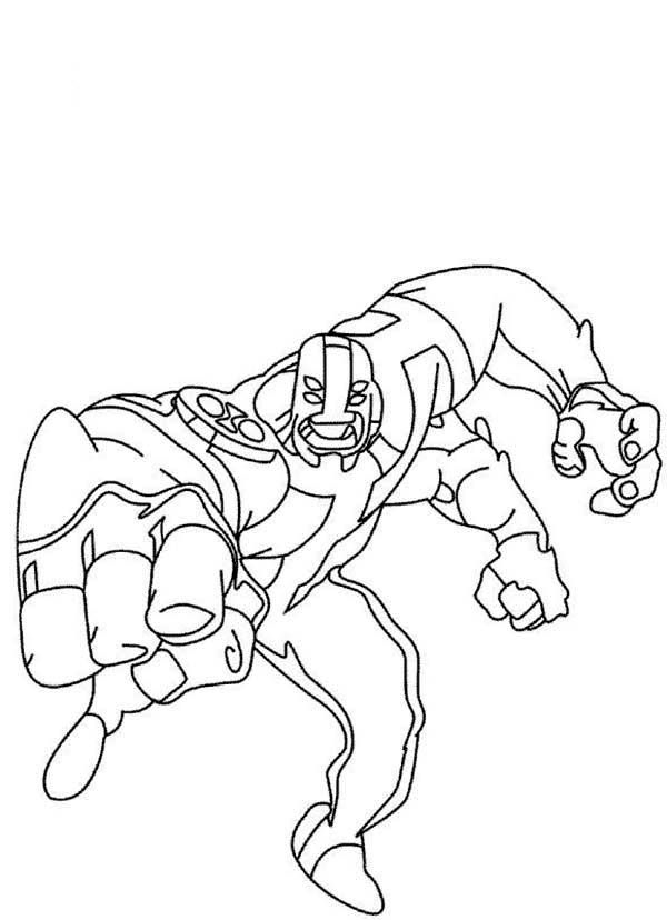 11 Pics Of Ben 10 Omniverse Four Arms Coloring Pages
