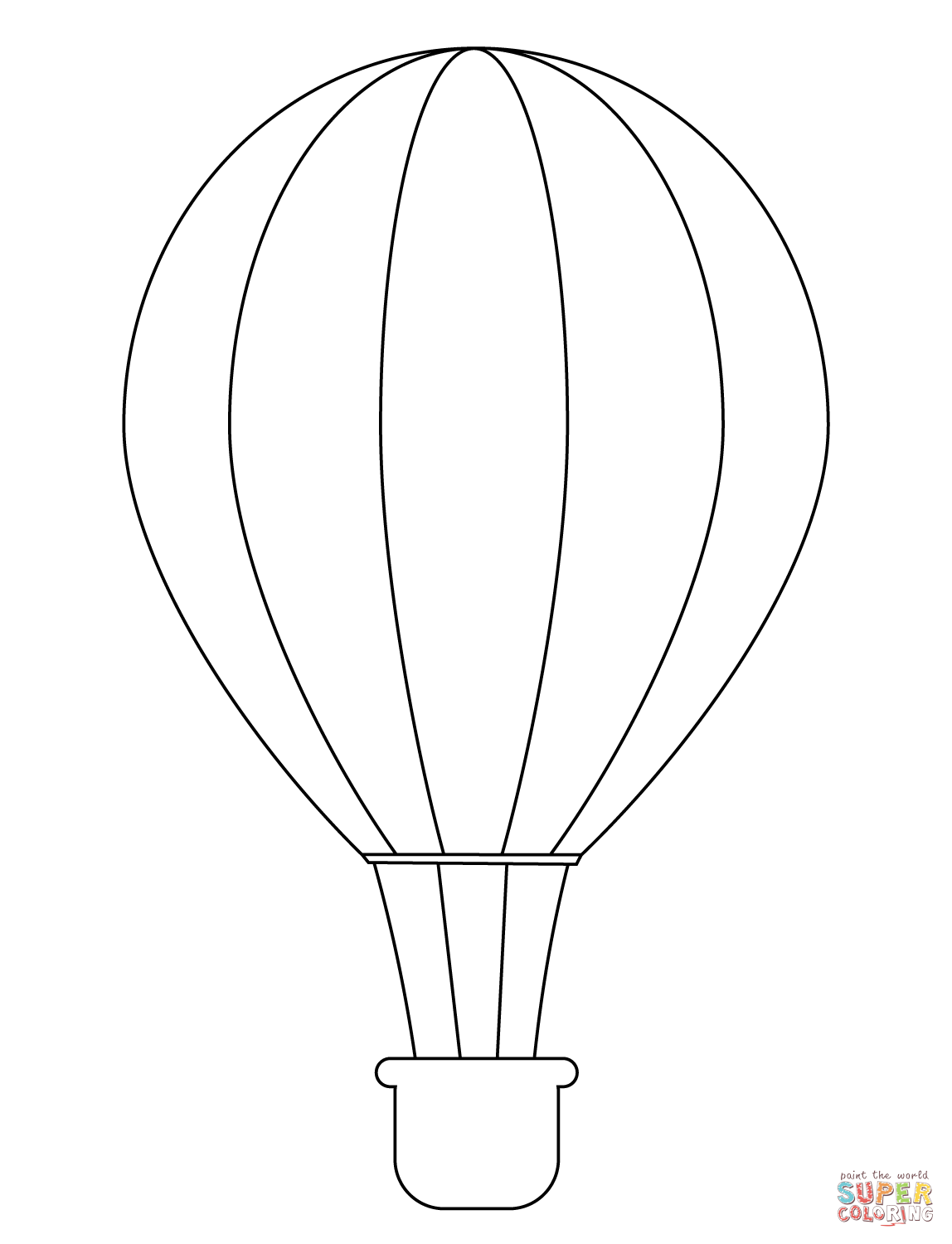 Simple Hot Air Balloon Coloring Page Free Printable Coloring