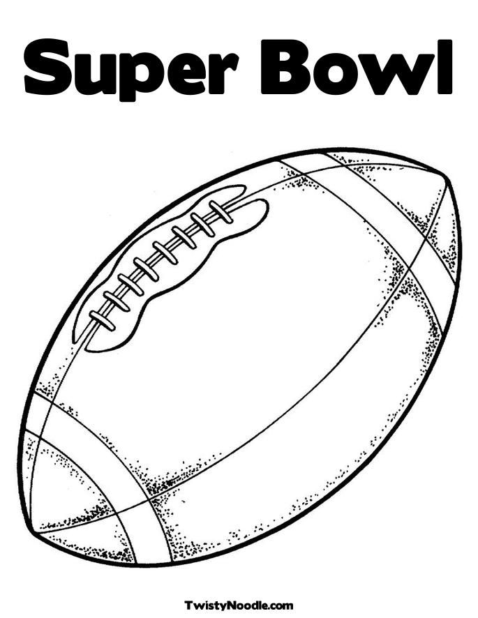 Free Superbowl Coloring Pages - Coloring Home