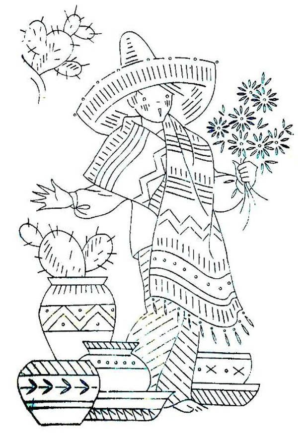 Coloring Pages Of Mexico Fiesta Coloring Home