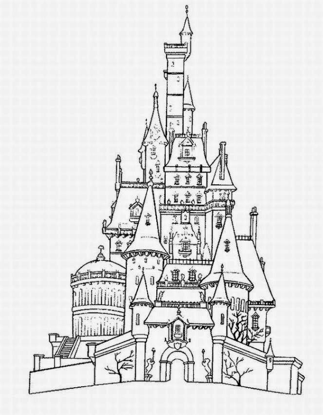 Disney World Castle Coloring Page Coloring Home