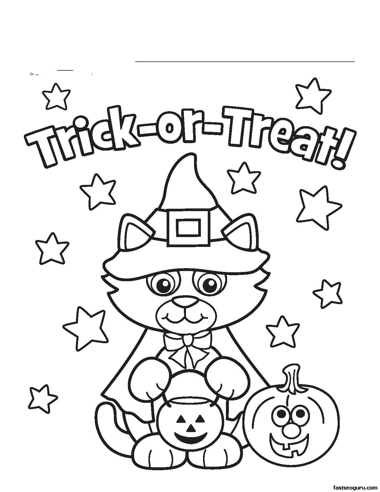 Free Happy Halloween Coloring Pages - Coloring Home