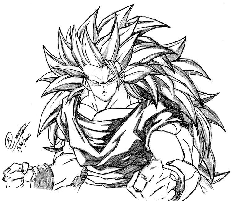 11 Pics Of Goku SSJ3 Coloring Pages