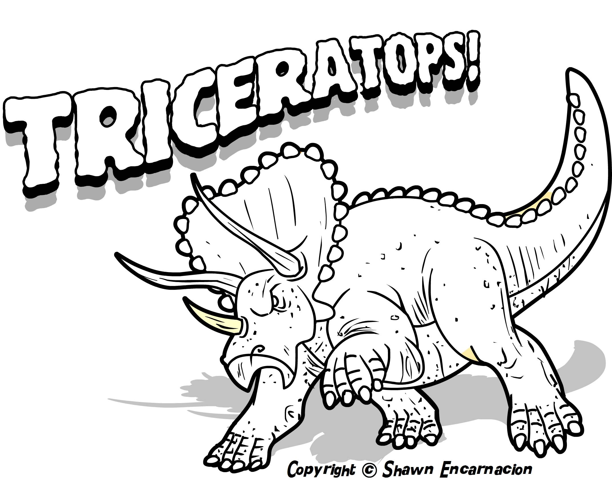 Coloring Pages Of Dinosaurs To Print Coloring Home