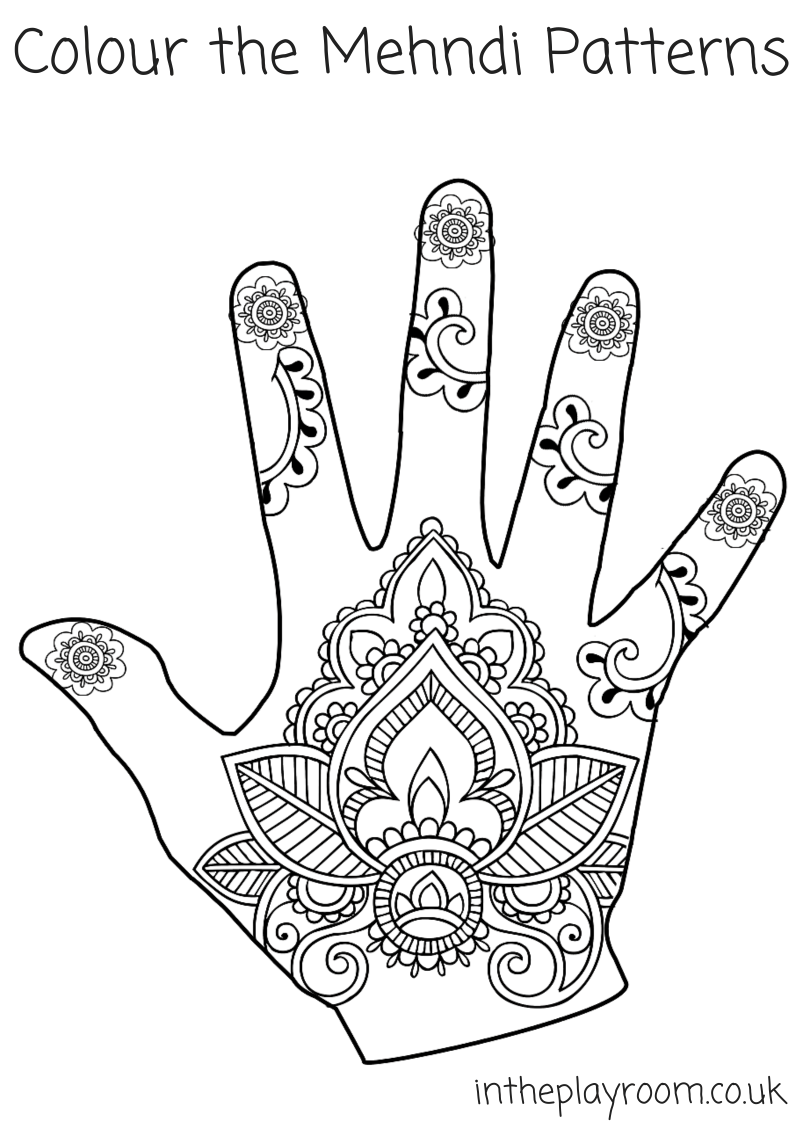 Henna Animals Coloring Pages : Mehndi coloring page home