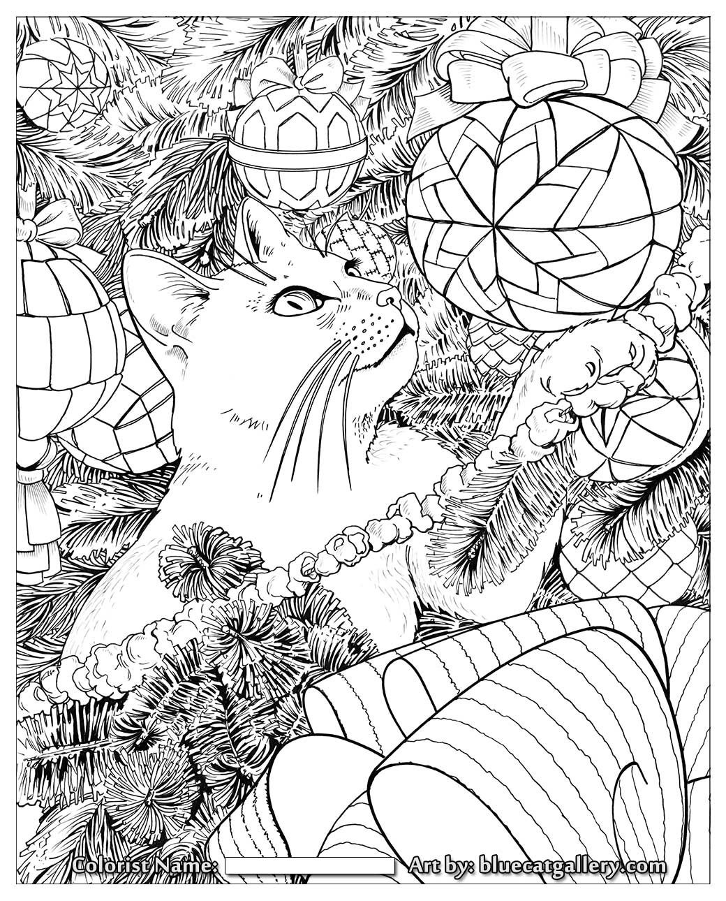 Adult Christmas Coloring Pages