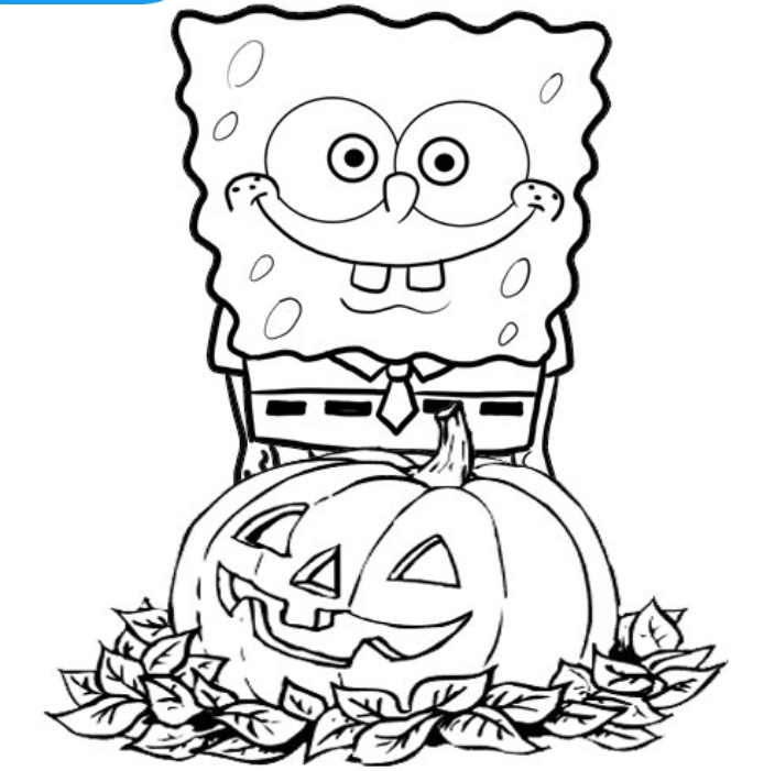 Spongebob Coloring Pages Pdf : Spongebob halloween coloring pages az