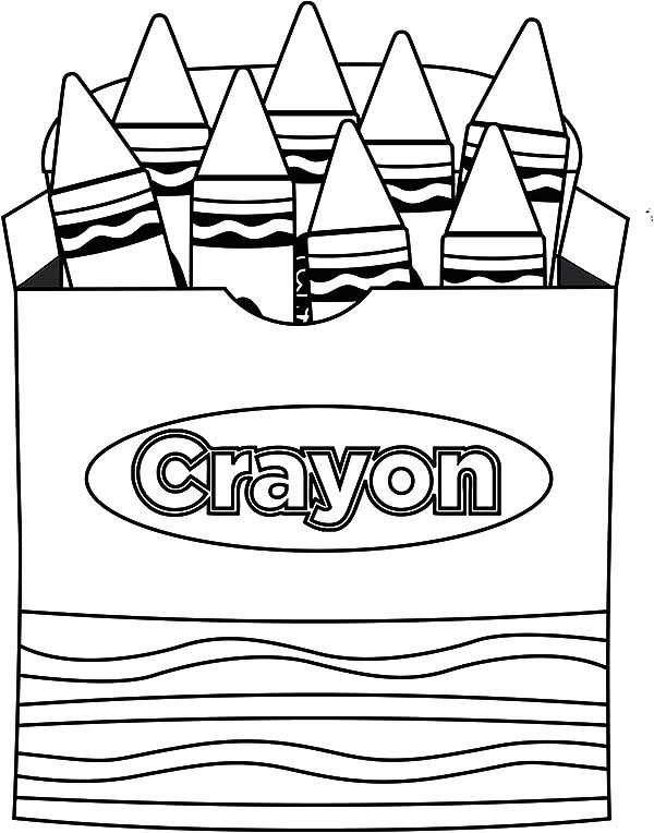 Crayon Coloring Page - Coloring Home
