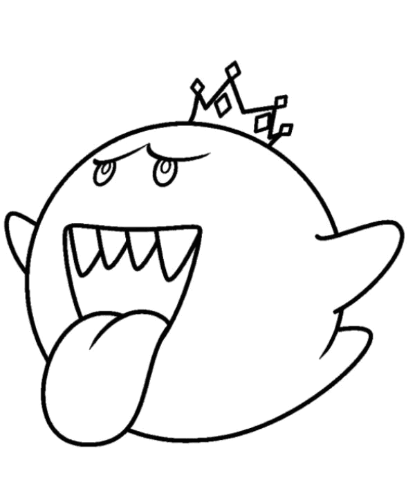 King Boo Coloring Pages Coloring Home King Boo Coloring Pages