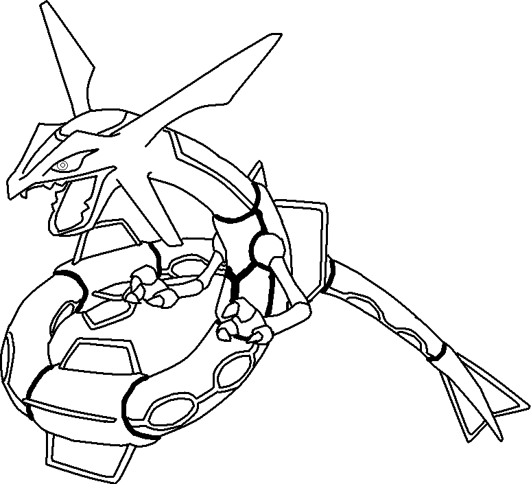 Pokemon rayquaza coloring pages coloring home - Coloriage pokemon rayquaza ...