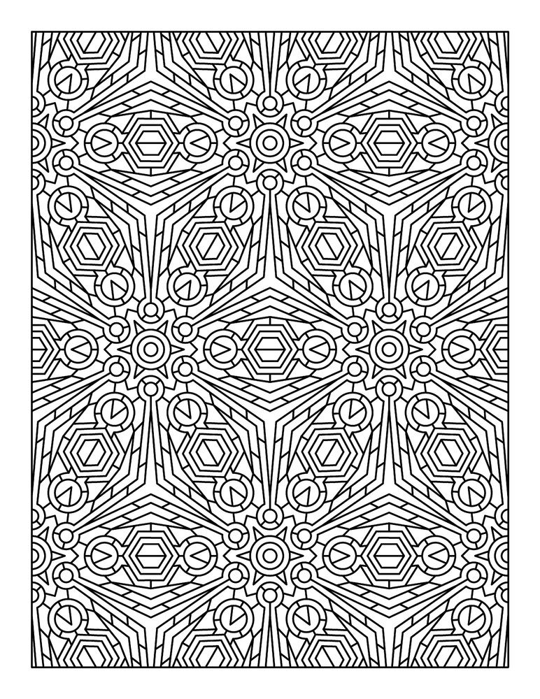 Advanced Coloring Pages Adults Geometric