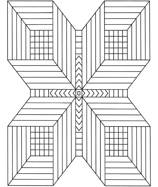 Printable 3d Coloring Sheets : 3d Free Coloring Pages