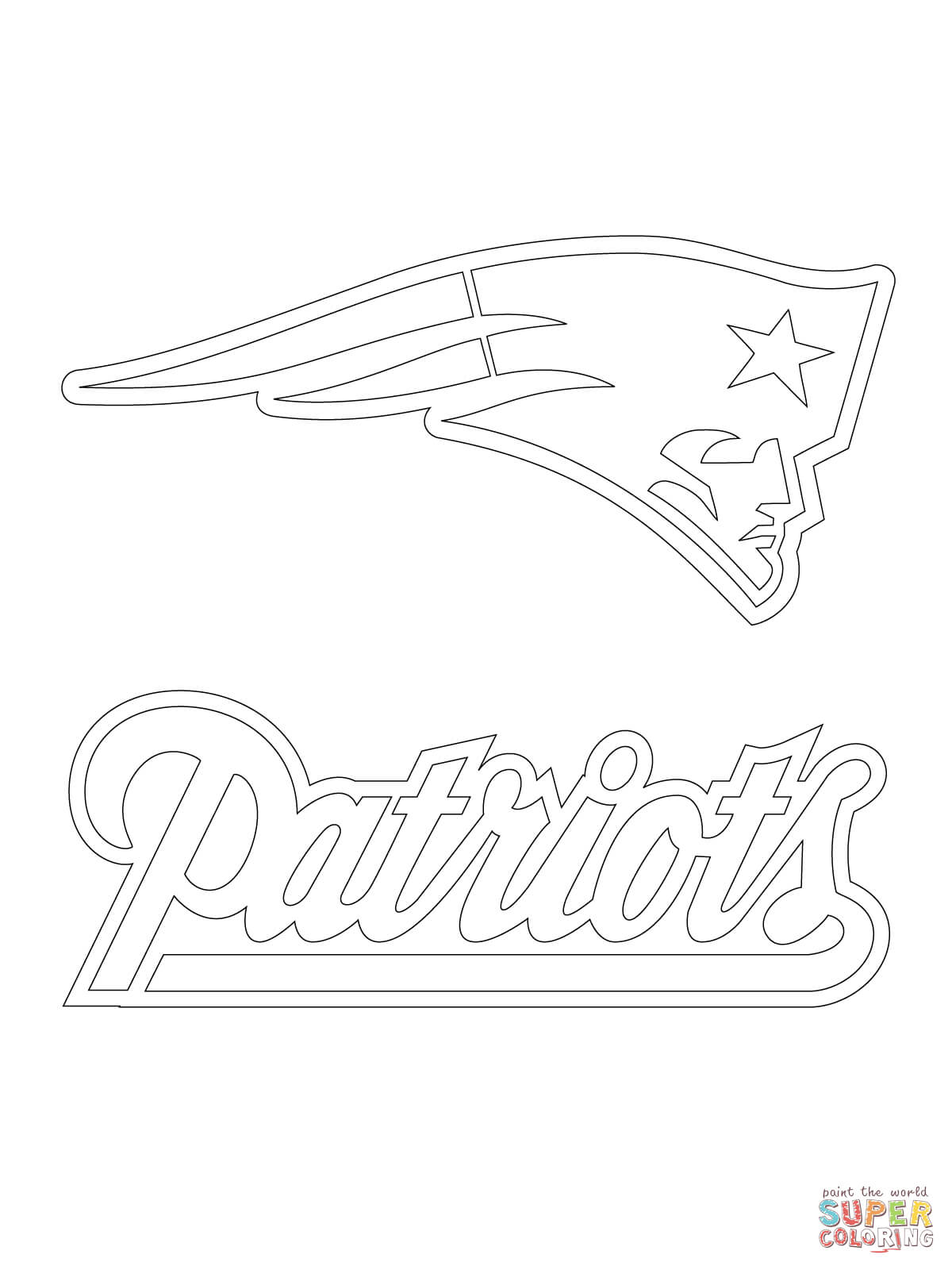 New England Patriots Logo coloring page | Free Printable Coloring ...