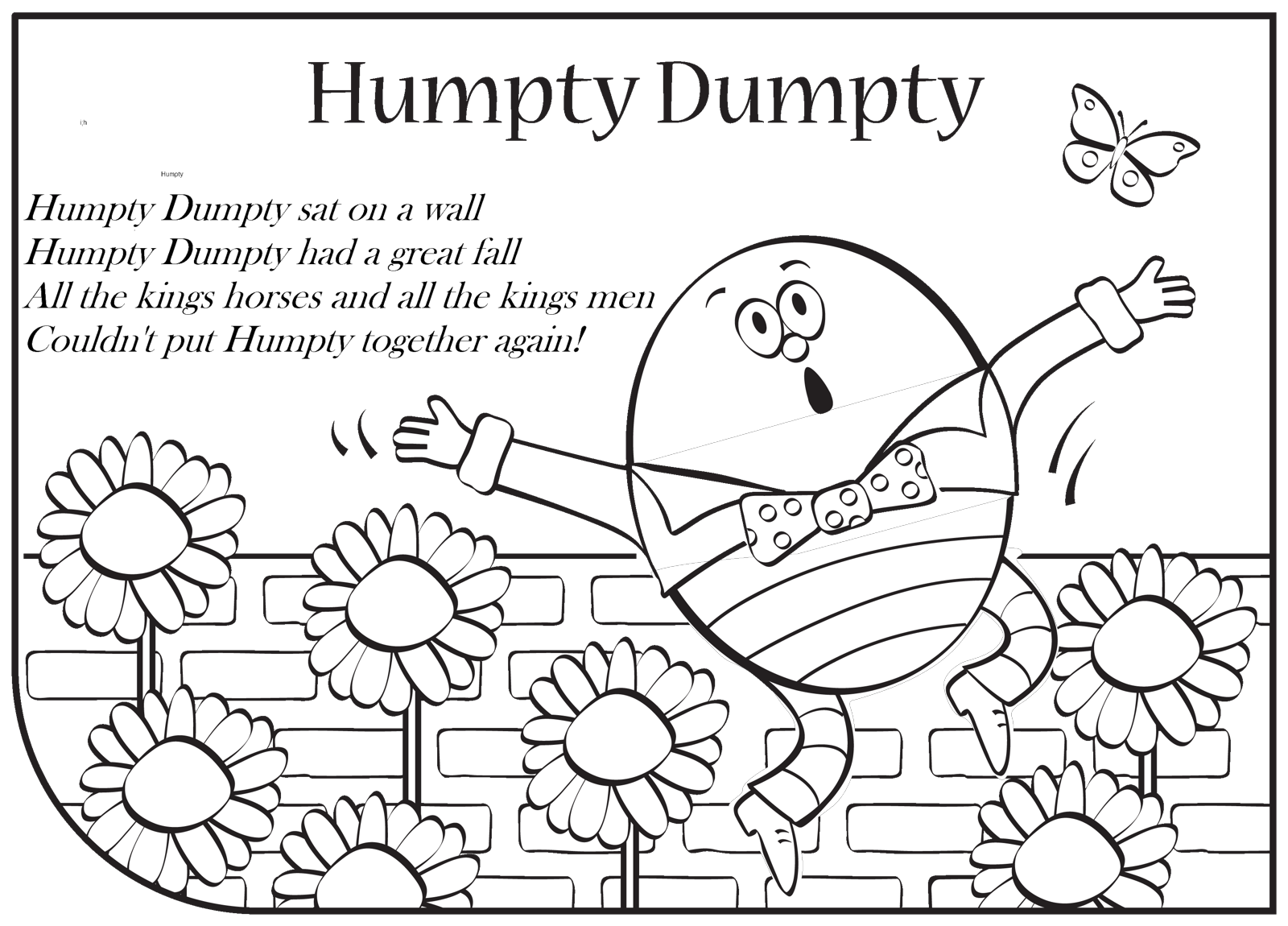 Colouring Pages For Humpty Dumpty : Humpty Dumpty Coloring Pages Coloring Home