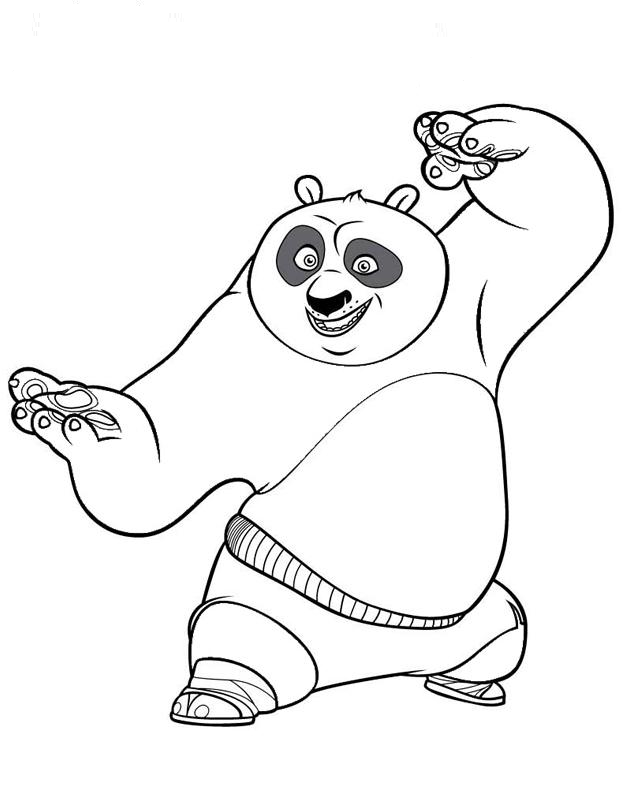 Tigress Coloring Pages For Kids Kung Fu Panda