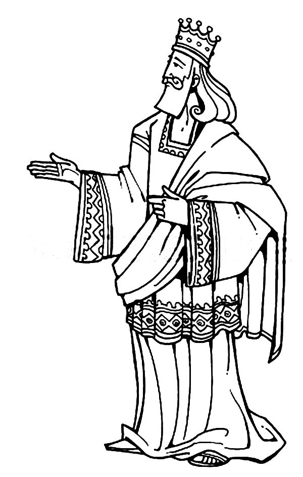 King Solomon of Israel in the Bible Heroes Coloring Page - NetArt
