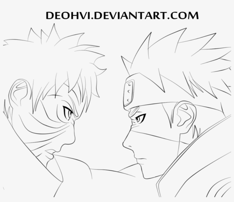 Goodbye Obito 687 Coloring Page - Naruto - Free Transparent PNG Download -  PNGkey
