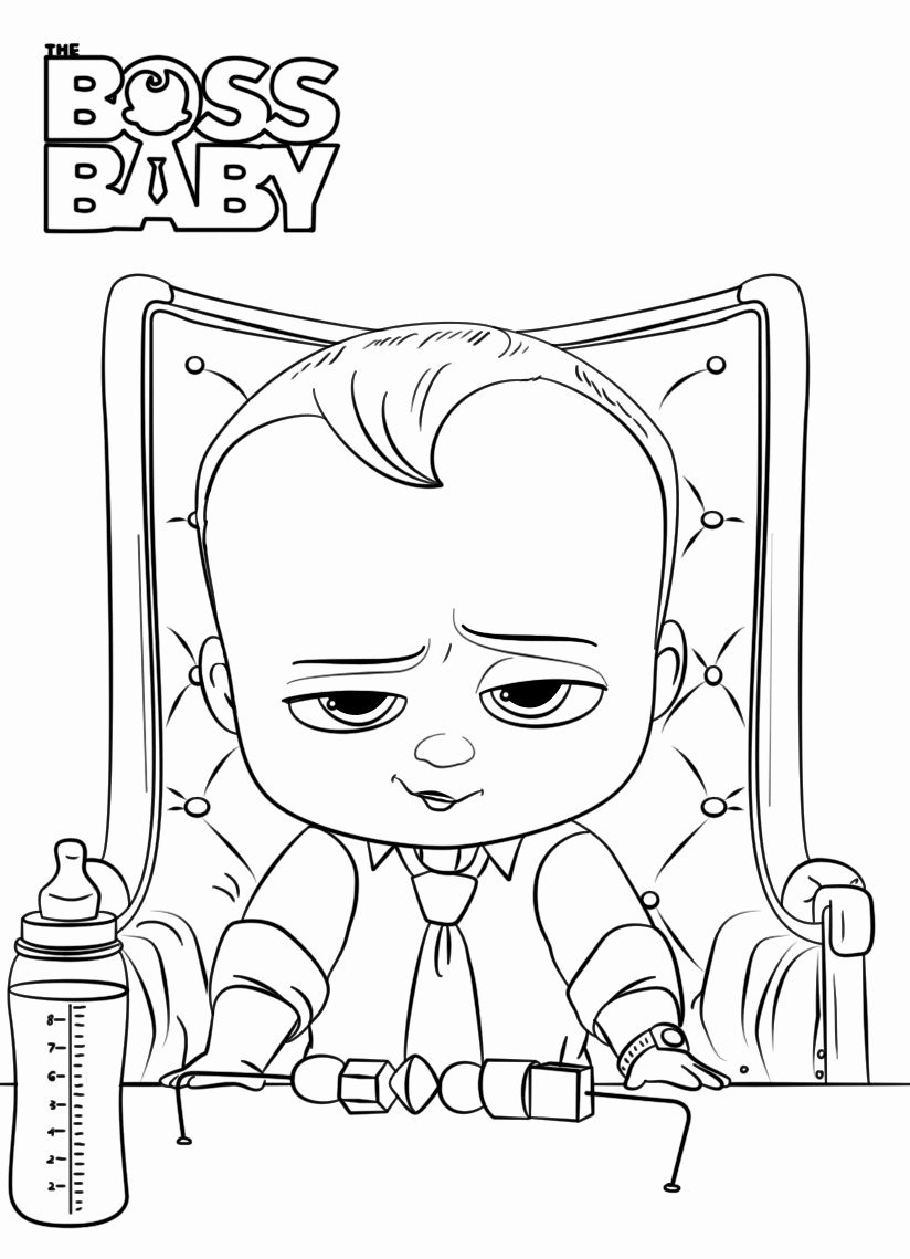 Boss Baby Coloring Page Luxury Boss Baby Coloring Pages Best ...