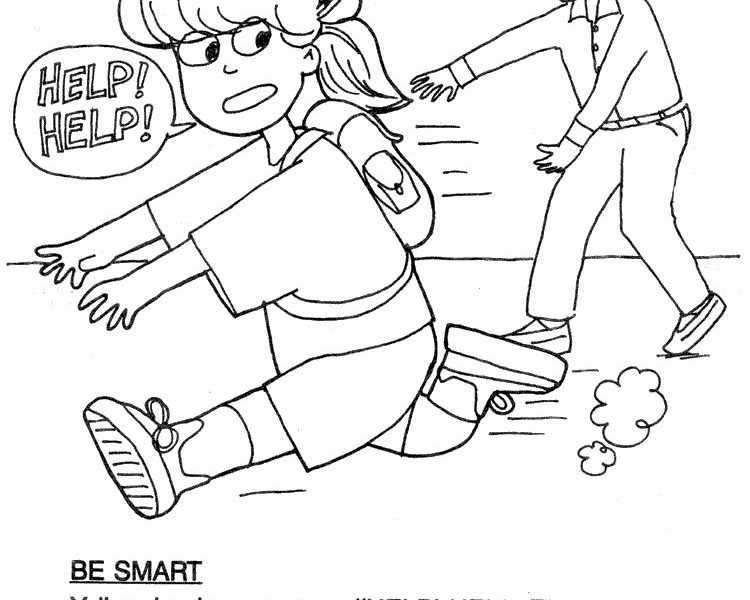 stranger danger coloring pages printables - photo#26