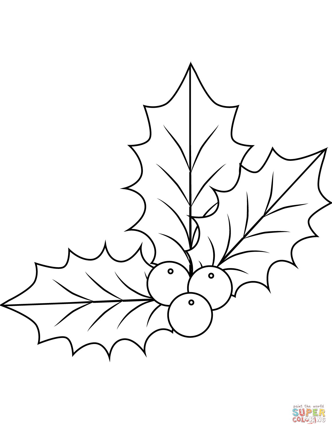 christmas holly border coloring pages - photo#20