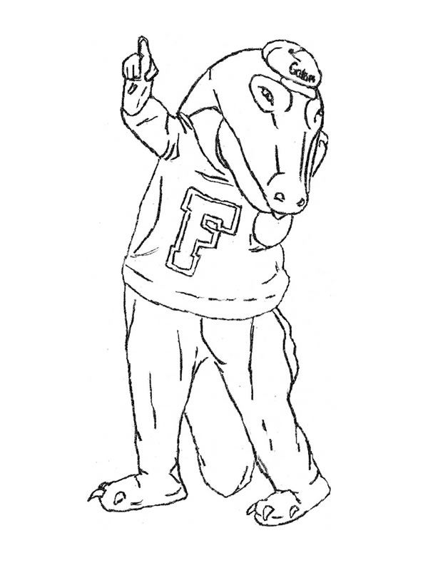florida gators printable coloring pages - photo#9