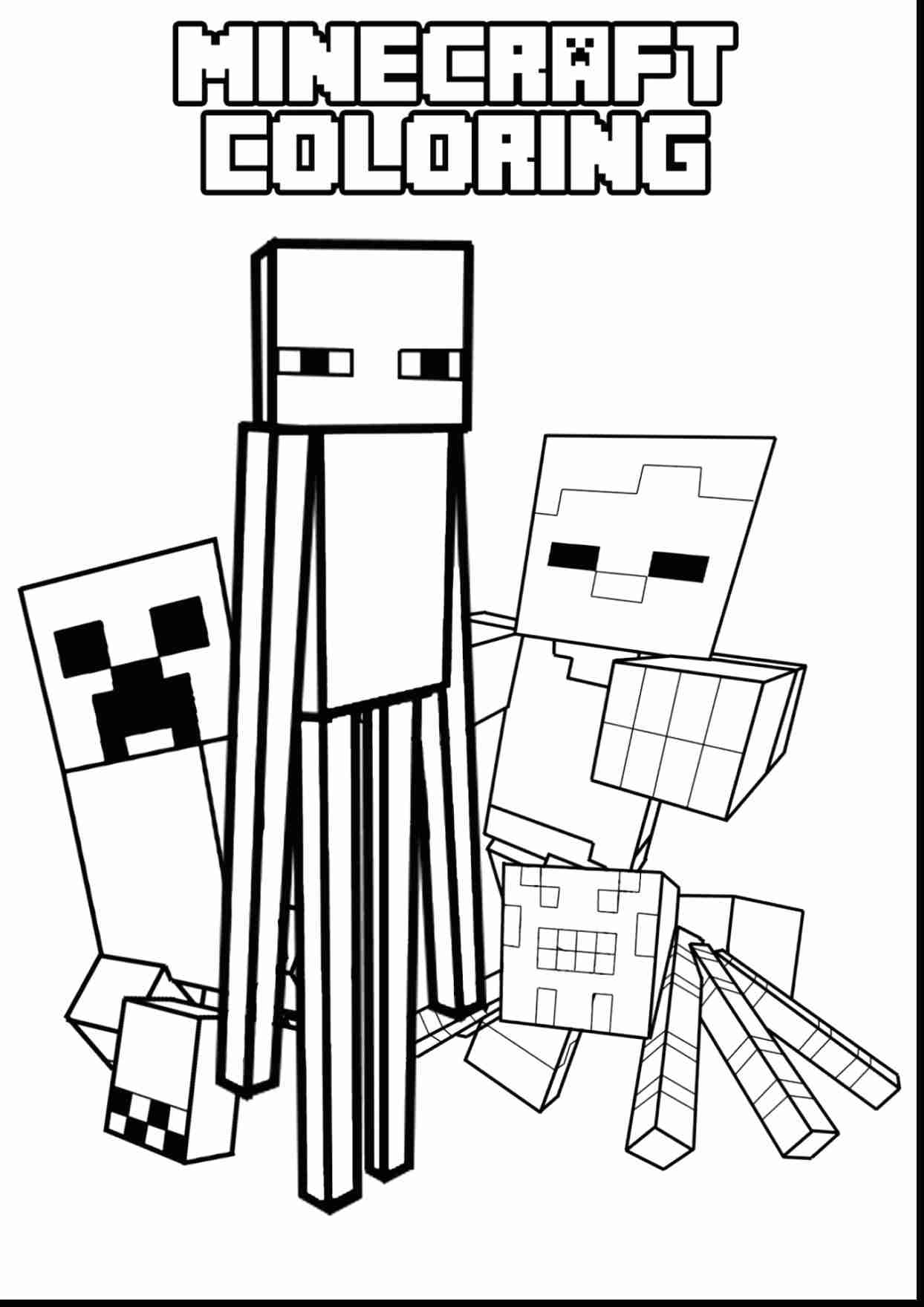 Creeper Coloring Pages Coloring Home