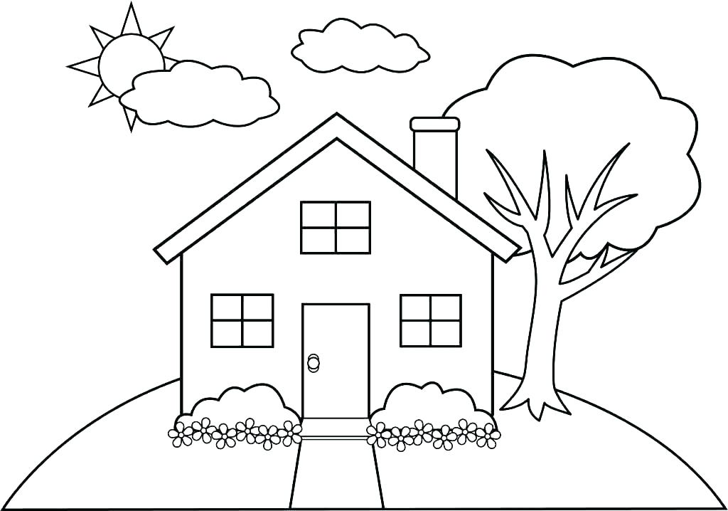 Buildings Coloring Pages - Coloring Home