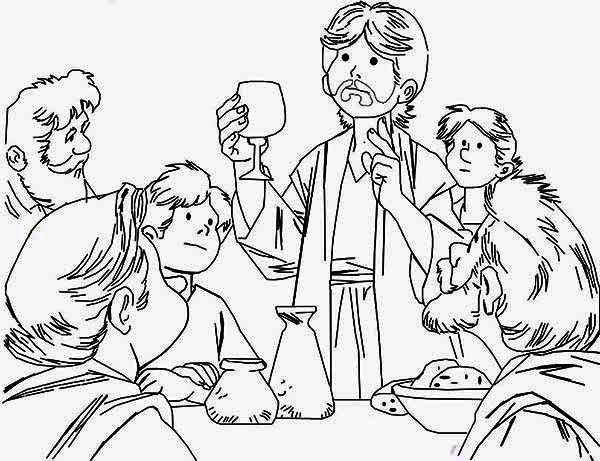picture relating to Last Supper Coloring Pages Printable referred to as The Ultimate Evening meal Coloring Site - - Coloring Property
