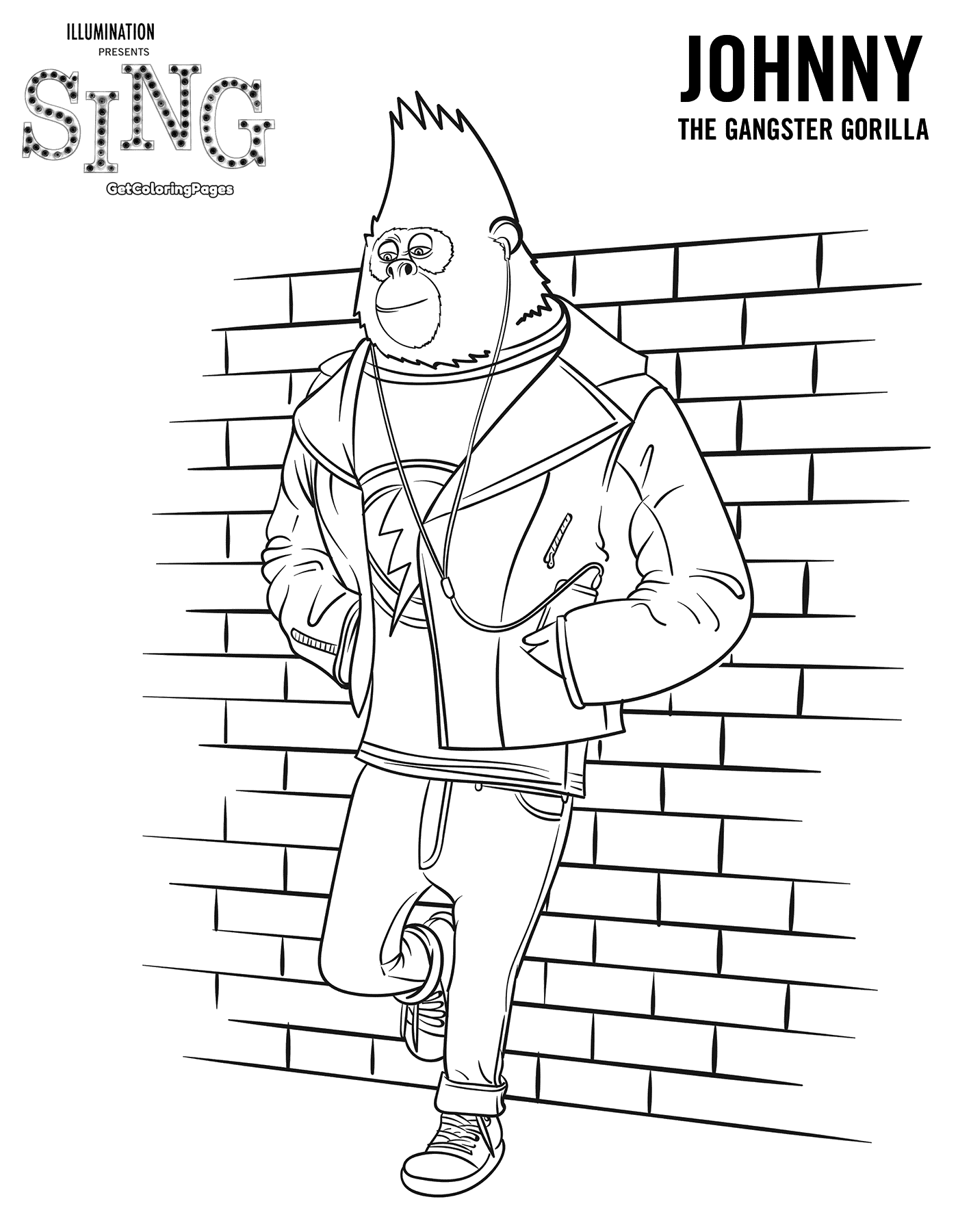 Sing Movie Coloring Pages Coloring Home Cing Coloring Pages
