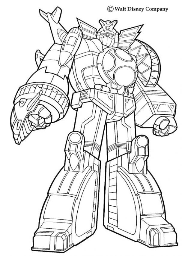 Power Rangers Coloring Pages Giant Robot Coloring Home