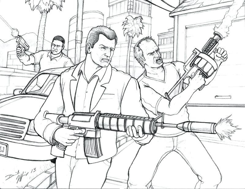Grand Theft Auto Coloring Pages Coloring Home