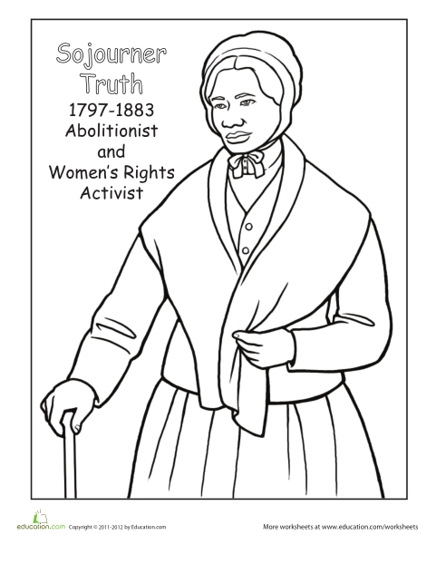 Free Harriet Tubman Coloring Page Free Coloring Sheets