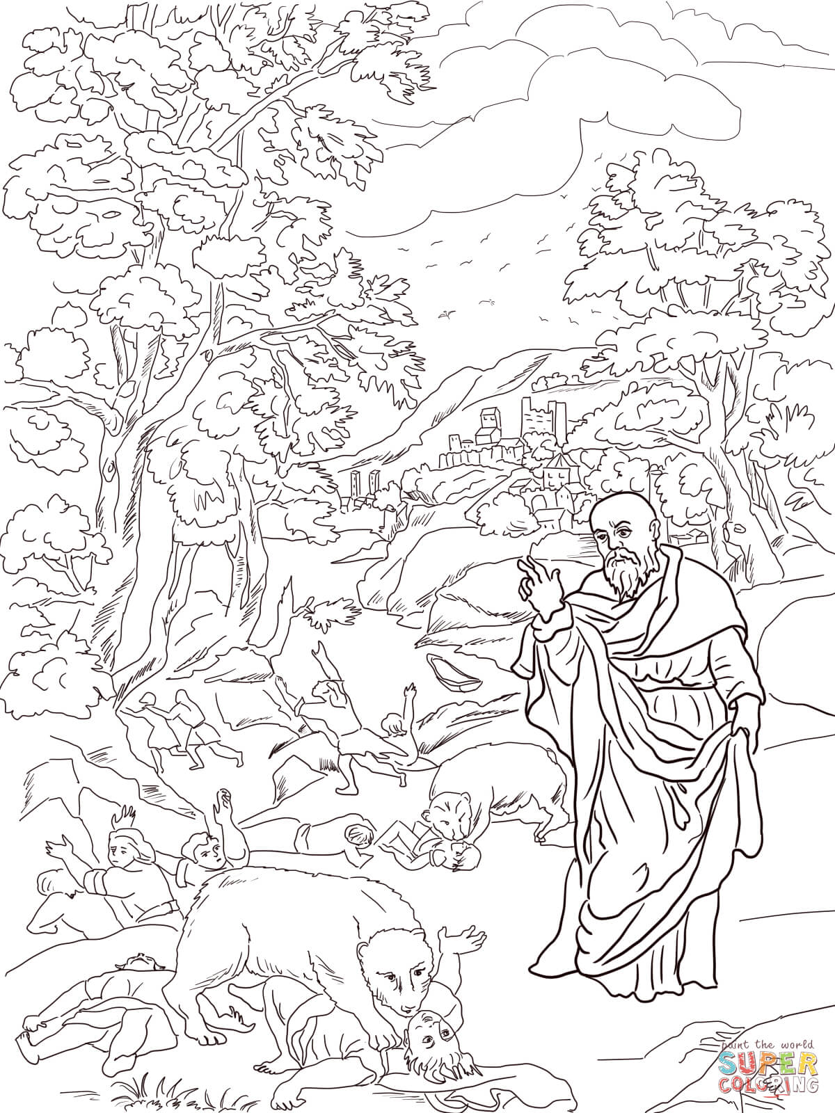 Uncategorized Elisha Coloring Page elisha and the bears coloring page free printable pages pages