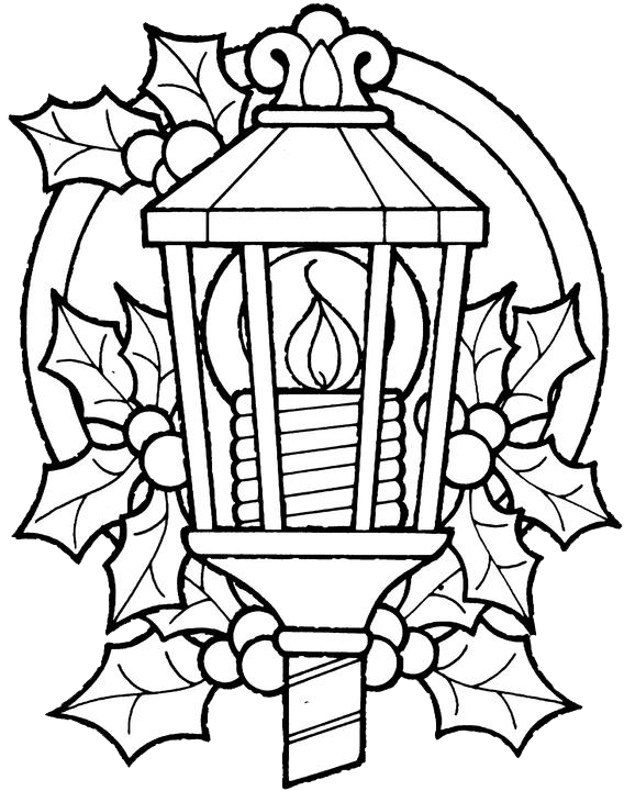 Lamp Coloring Pages Coloring Home