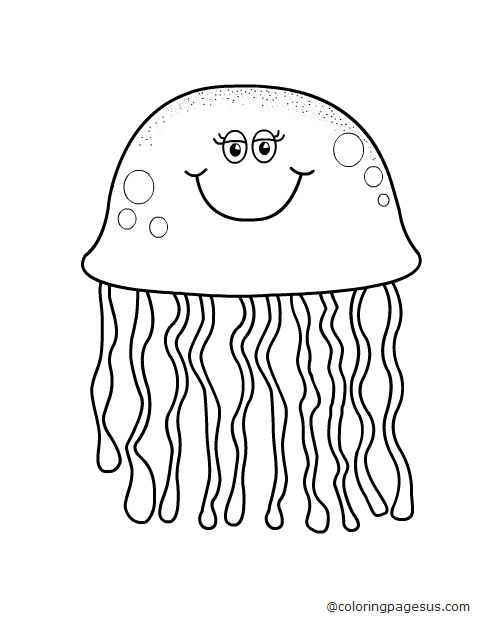 Jellyfish coloring pages coloring home for Jelly fish coloring page