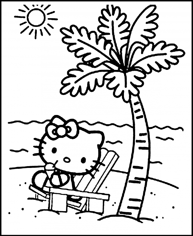 Sunny Day Coloring Pages - Coloring Home